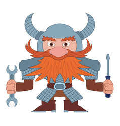 dwarf repairer vector image