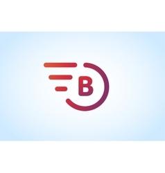 Fast line letter b logo monogram vector