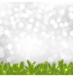 FirTree With Silver Bokeh vector image vector image