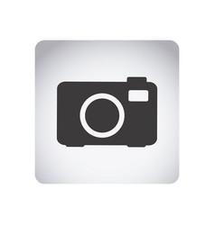 gray emblem camera icon vector image