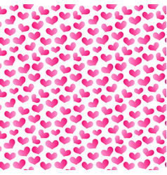 hearts seamless pattern 4 vector image