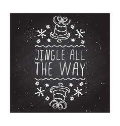 Jingle all the way - typographic element vector