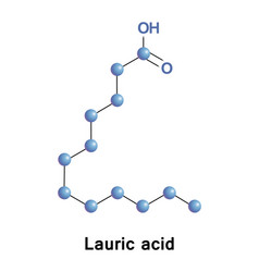 Lauric a saturated fatty acid vector