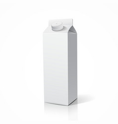 Milk package template design vector image