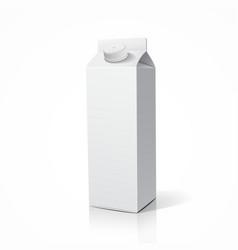 Milk package template design vector image vector image