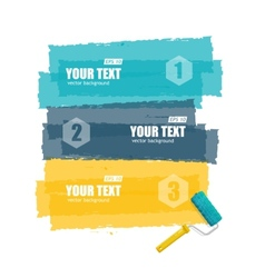 Roller brush for text options banner vector