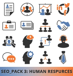 Seo human resources vector