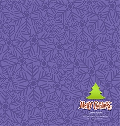 Snow flakes texture design violet background vector image vector image
