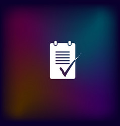 to do list icon vector image