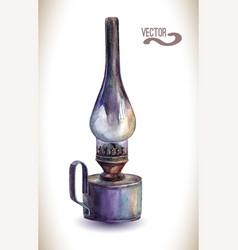 Vintage kerosene lam vector