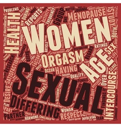 Women s Sexual Health Age Doesn t Matter text vector image vector image