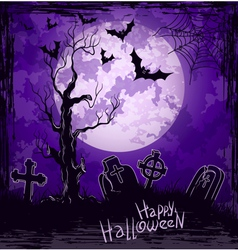 Violet grungy halloween background vector