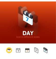 Day icon in different style vector