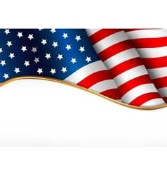American flag independence day banner vector