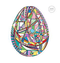 Easter egg hand drawn background vector