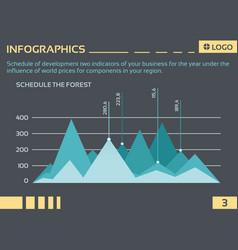 info graphic company5 vector image