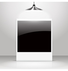Empty shiny photo frame vector image
