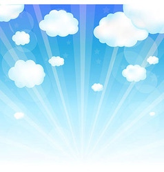 Sky and cloud vector