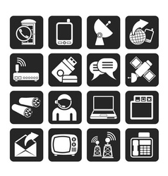 Silhouette Communicationand technology vector image