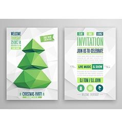 christmas flyer feer vector image