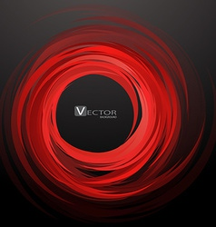 Abstract swirl red background vector image