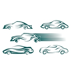 Modern cars design elements vector