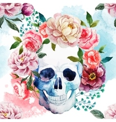 Watercolor skull vector