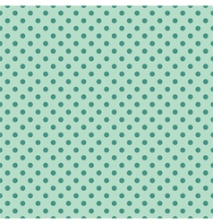 Tile pattern mint polka dots on green background vector