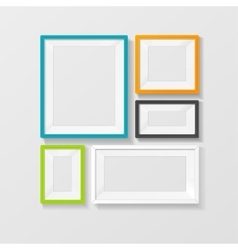 Color picture frame set vector
