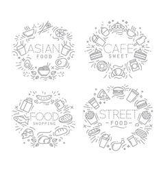 Food monograms vector