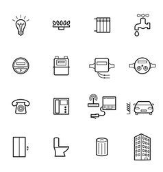 Utilities icons vector
