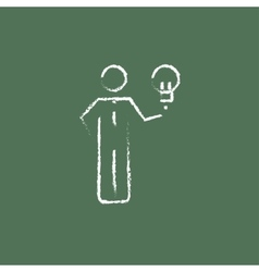 Business idea icon drawn in chalk vector