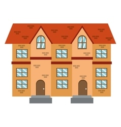 Brick building icon vector
