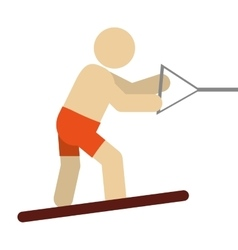 Water skiing pictogram icon vector