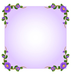 A lavender empty template with plant borders vector