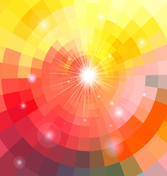 Abstract colorful background with sun vector