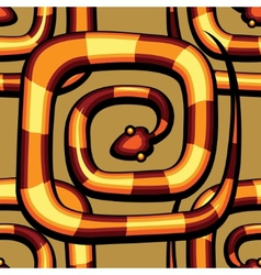 Abstract serpent pattern vector