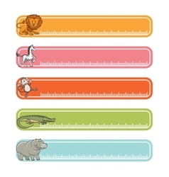 Baby banners with wild animals vector