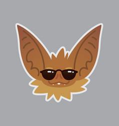 bat emotional head cool emoji smiley icon vector image vector image