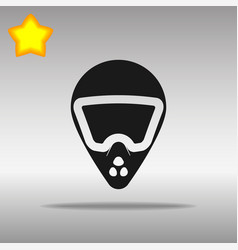 bike helmet black icon button logo symbol vector image vector image
