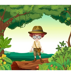 Boy explorer vector