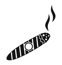 Cigar icon simple style vector
