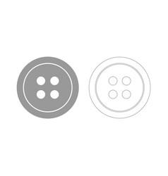 Clothing button the grey set icon vector