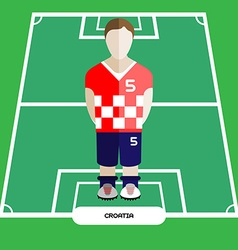 Computer game croatia soccer football club player vector