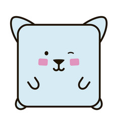Cute cat flat emoticon vector