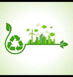 Ecology concept with recycle icon vector image vector image