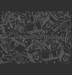 Electronics line art design vector