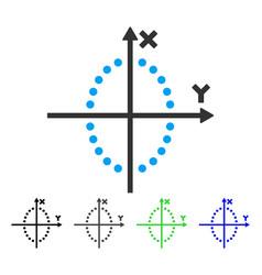 Ellipse plot flat icon vector