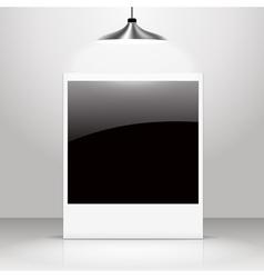 Empty shiny photo frame vector image
