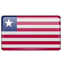 Flags Liberia in the form of a magnet on vector image